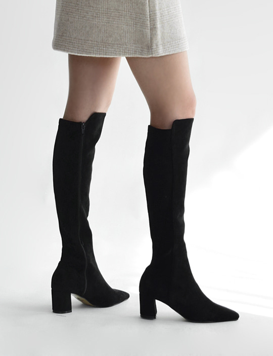 [SALE] SUEDE KNEE-HIGH BOOTS (2COLOR)