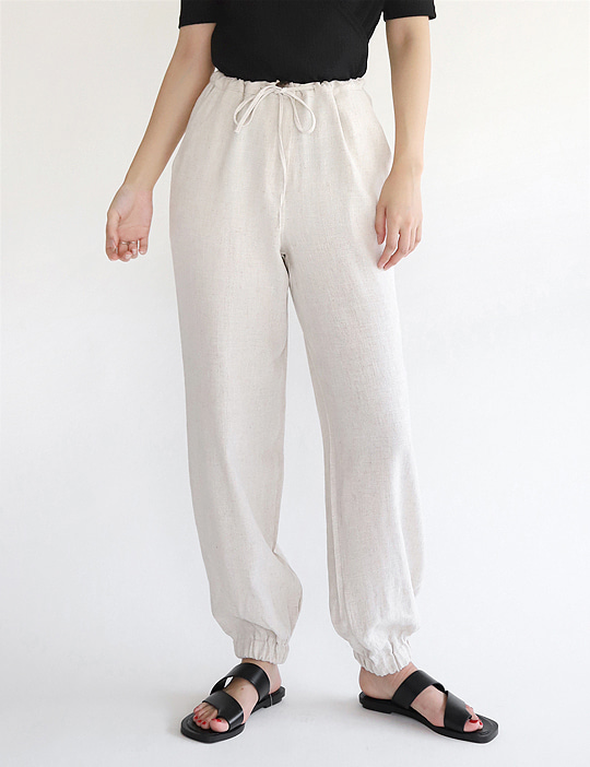VIEW LINEN JOGGER PANTS (2COLOR)