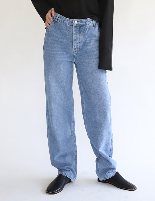 FLAT DENIM PANTS