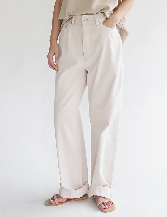 THREE LOOSE COTTON PANTS (3COLOR)