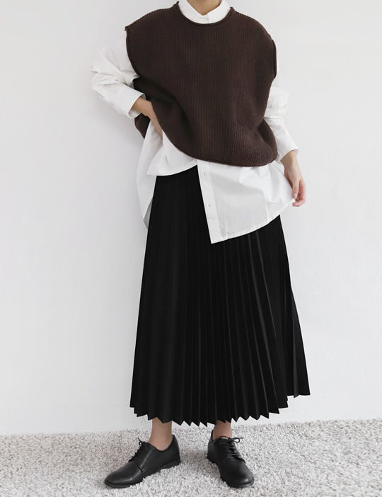 PLEATS SKIRT (2COLOR)