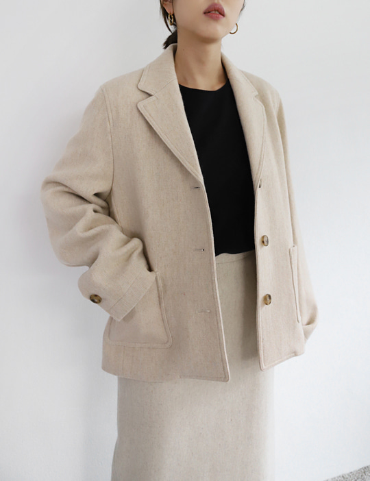 MUSEUM WOOL JACKET (3COLOR)