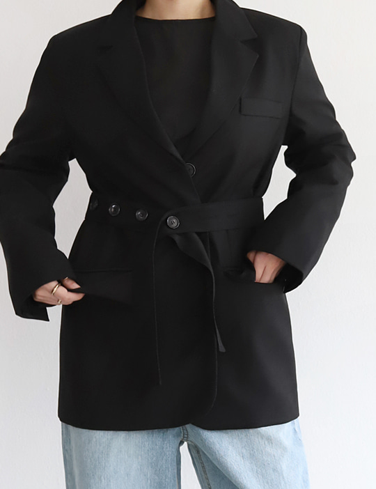 BELTED JACKET (3COLOR)