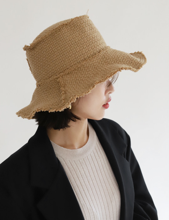 TWEED WOOL BUCKET HAT (2COLOR)