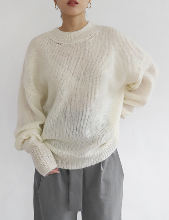 [SALE] LOUNGE MOHAIR KNIT (3COLOR)