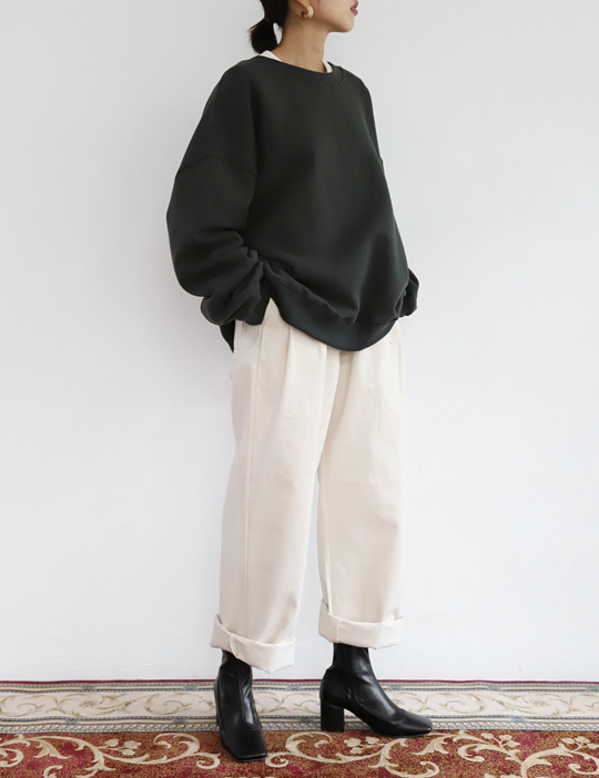 BELTED WIDE PANTS (4COLOR)