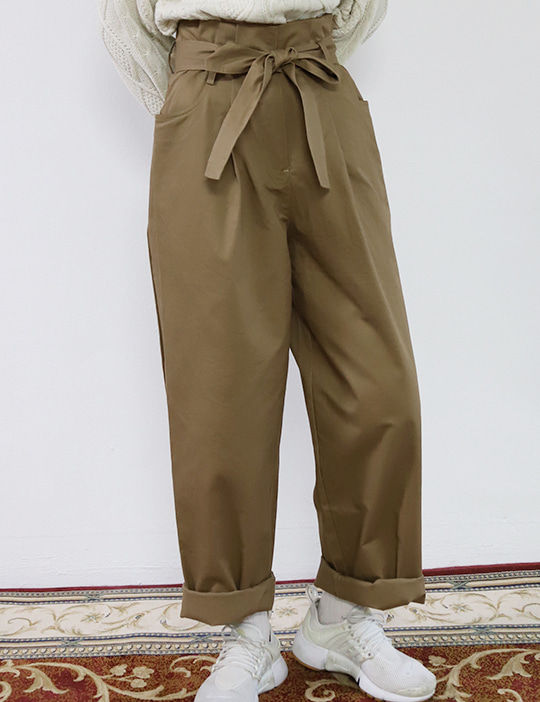 EDIT STRAP PANTS (2COLOR)