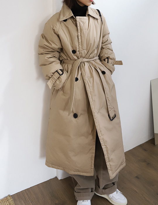 PADDING TRENCH COAT (3COLOR)