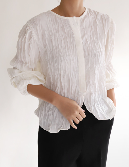 WRINKLE BLOUSE (3COLOR)