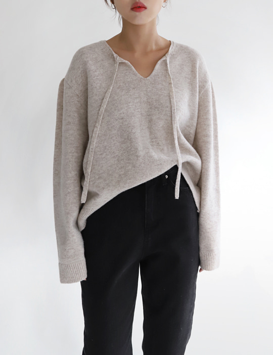 STRING SHIRRING KNIT (3COLOR)