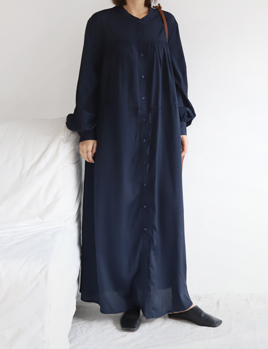 SHIRRING MAXI OPS (2COLOR)