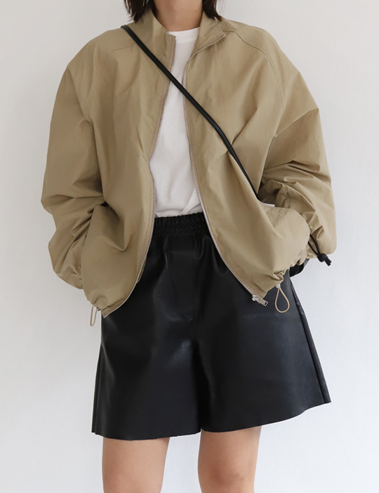 MOOD LEATHER SHORT PANTS (2COLOR)