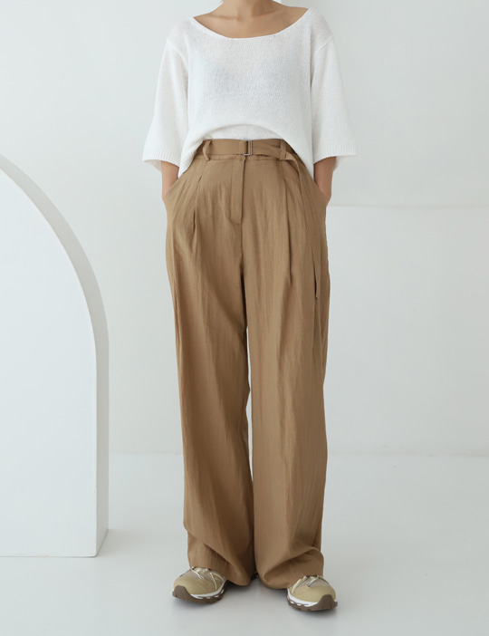 STONE BELT SLACKS (3COLOR)