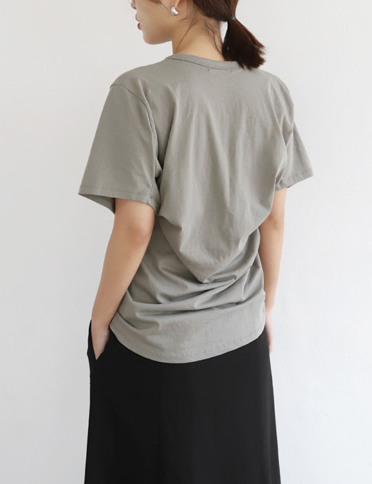 BACK-DRAPING TEE (COLOR)