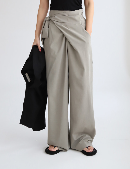 WELL WRAP PANTS (3COLOR)