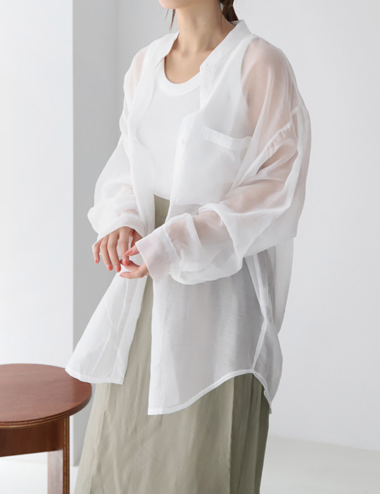 CLEAN ROUND-COLLAR SHIRTS (4COLOR)