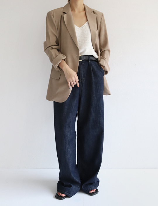 SUMMER INDIGO WIDE PANTS