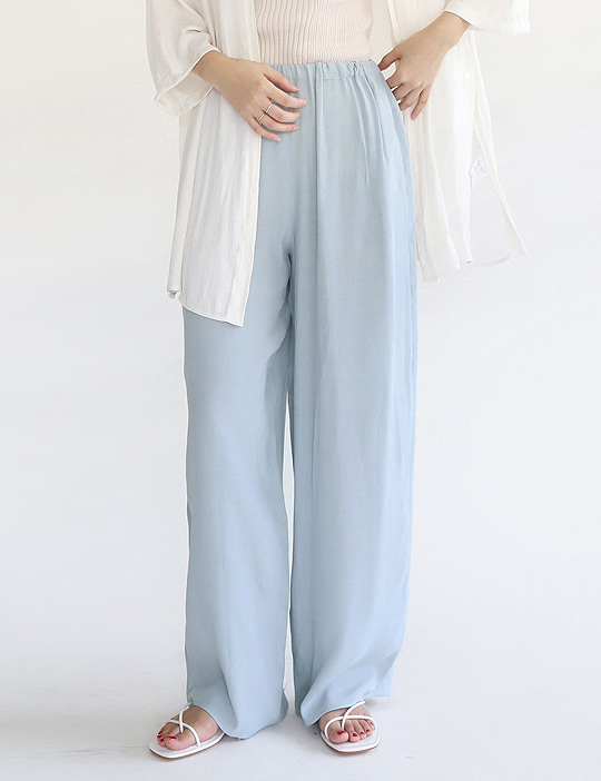 SILKY COLOR BAND PANTS (2COLOR)