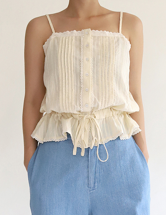 CONE LACE CAMISOLE TOP (2COLOR)