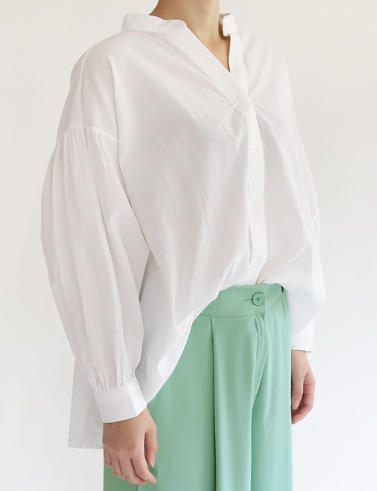 ME SHIRRING BLOUSE (2COLOR)