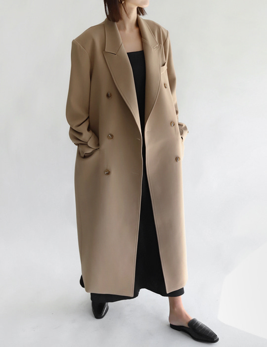 DOUBLE LONG JACKET (3COLOR)