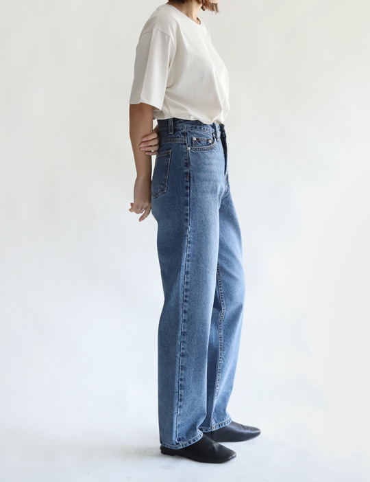 BRUSH DENIM PANTS