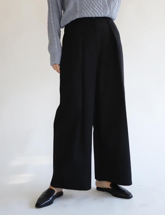 LOG WIDE PANTS (3COLOR)