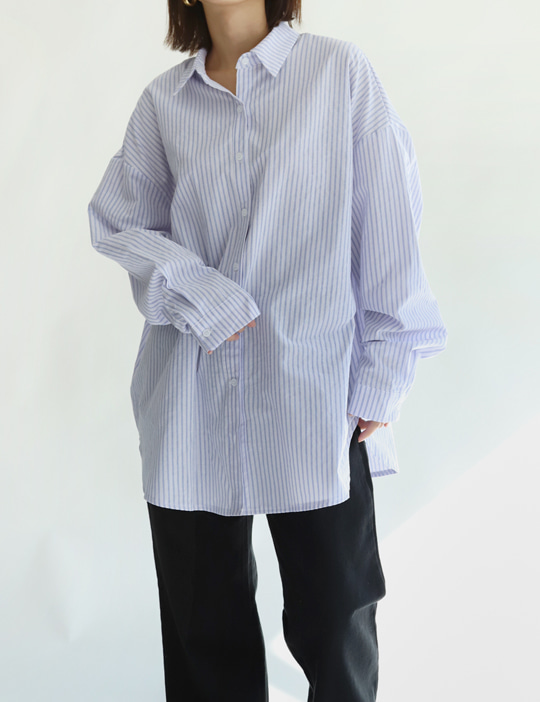 BOXY STRIPE SHIRTS (3COLOR)