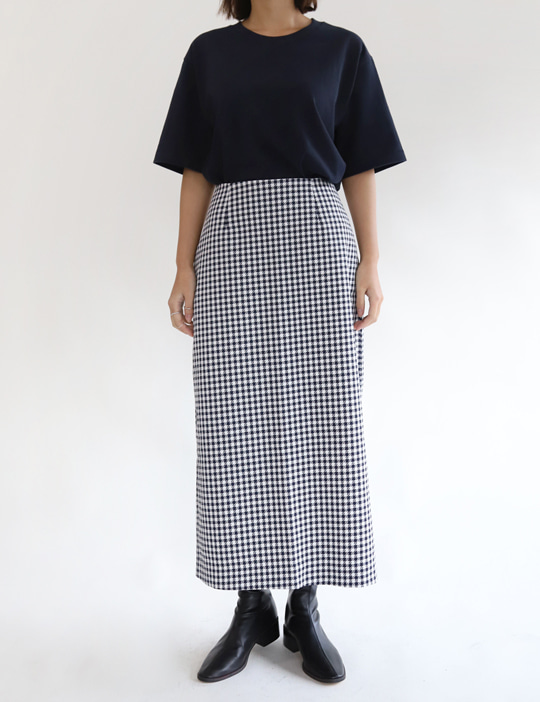 GINGHAM CHECK SKIRT (2COLOR)