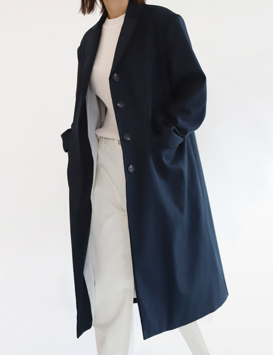 LINEN LONG COAT (2COLOR)