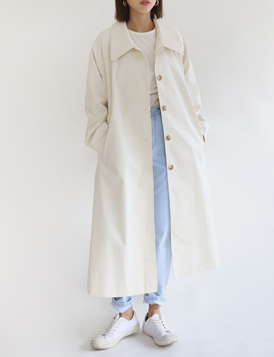 BUCKLE TRENCH COAT (2COLOR)