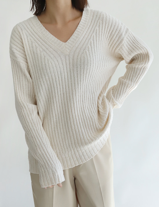 BOUCLE V KNIT (3COLOR)