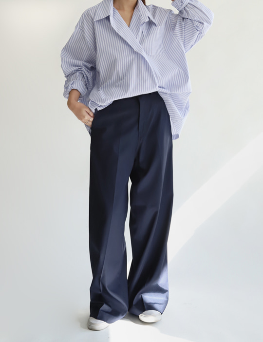 GLOSS LOOSE SLACKS (3COLOR)