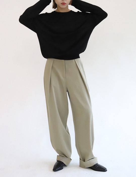MOVE TUCK PANTS (2COLOR)