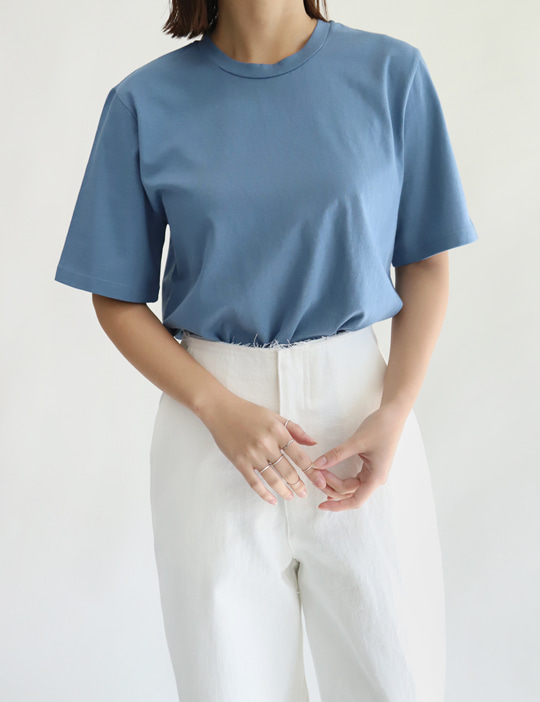 SILKET ROUND TEE (5COLOR)
