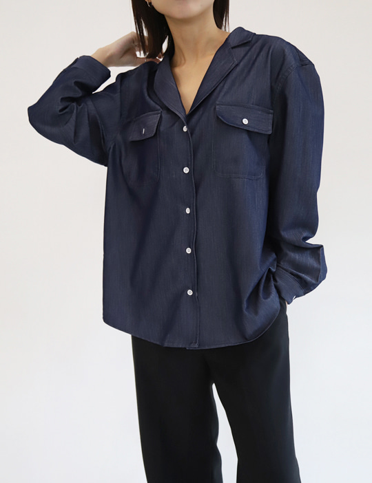 TENCEL DENIM SHIRTS (2COLOR)