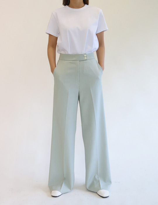 TWO-BUTTON SLACKS (3COLOR)