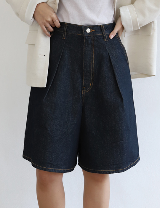 RAW DENIM SHORT PANTS
