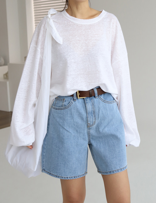 LESS DENIM SHORT PANTS