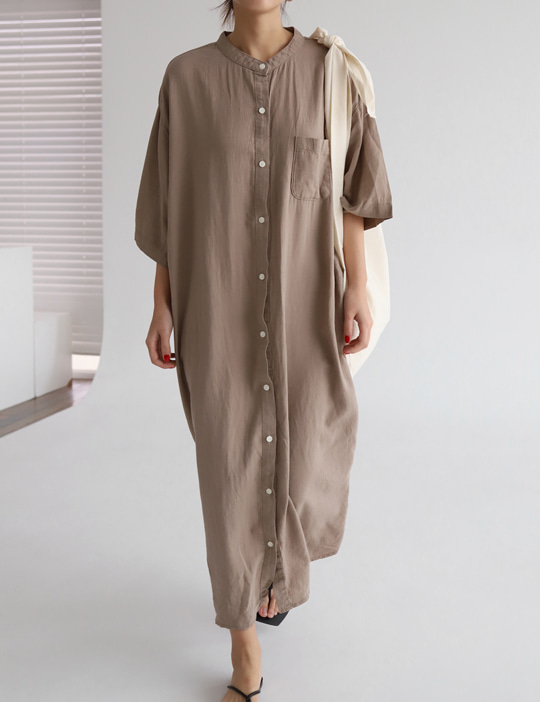 LINEN ROUND SHIRTS OPS (3COLOR)