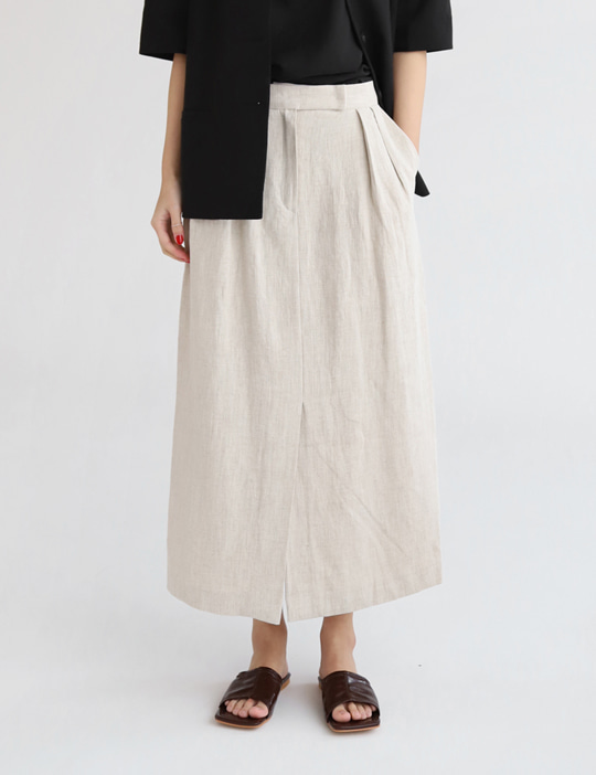 ORDINARY LINEN SKIRT (2COLOR)