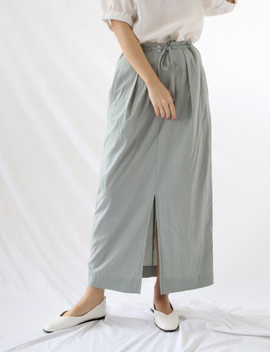 SAND STRING SKIRT (3COLOR)