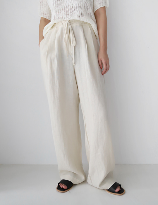 MOON STRING LINEN PANTS (3COLOR)