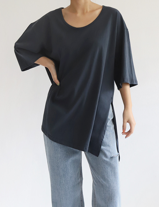 ONE-SLIT U TEE (4COLOR)