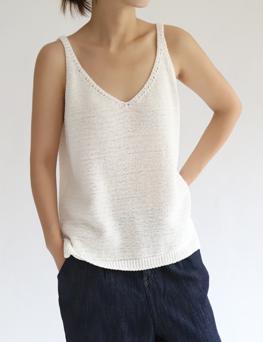 COCOON KNIT SLEEVELESS (3COLOR)
