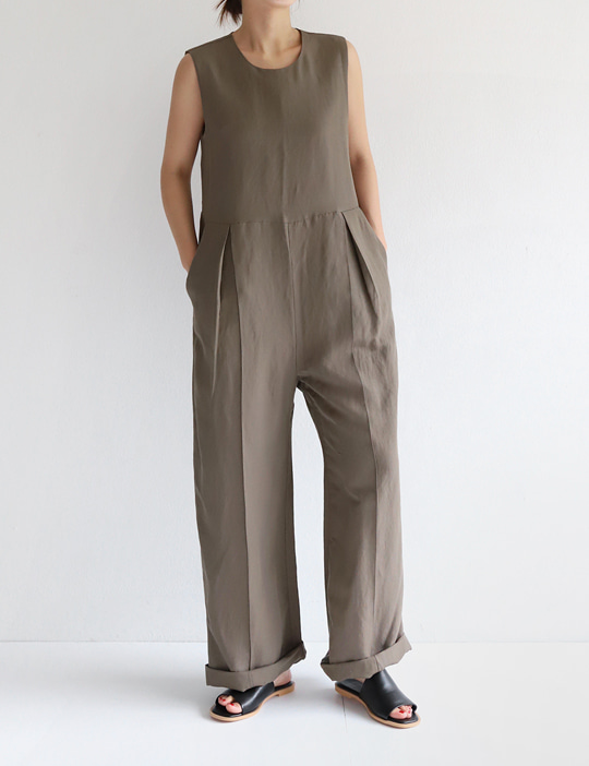 MELLOW LINEN JUMPSUITE (3COLOR)