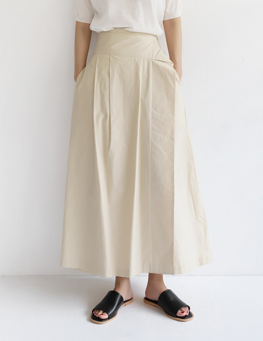 ORIGAMI LONG SKIRT (3COLOR)
