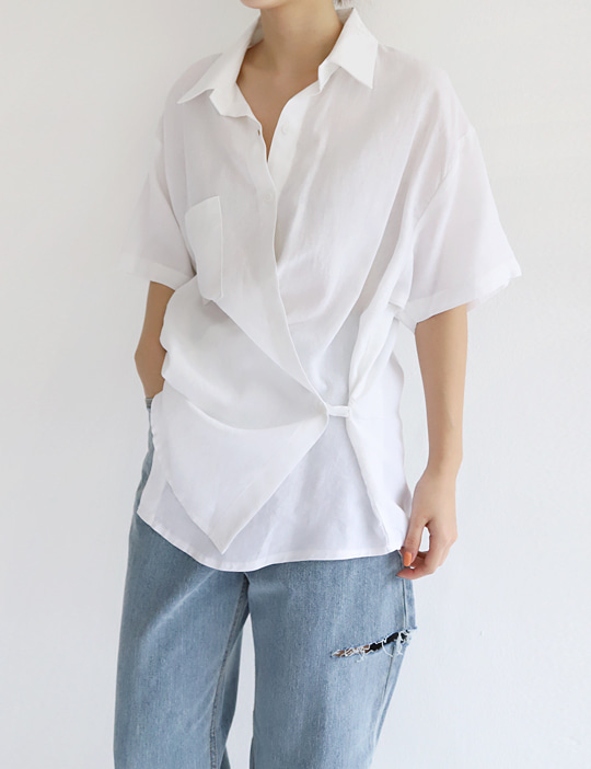 ONDO LINEN WRAP SHIRTS (3COLOR)
