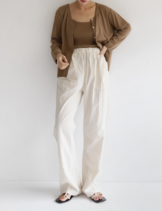 PAPERY BANDING PANTS (2COLOR)
