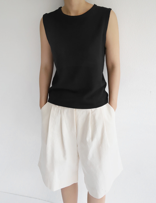 AMONG LINEN KNIT SLEEVELESS (3COLOR)